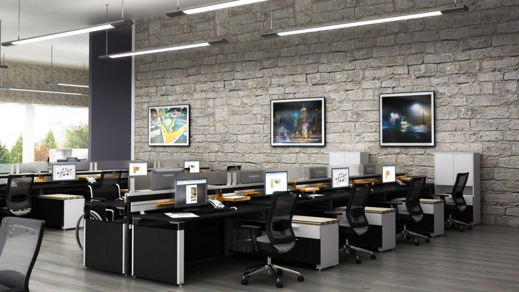 Tạo không gian văn phòng với diện tích phù hợp